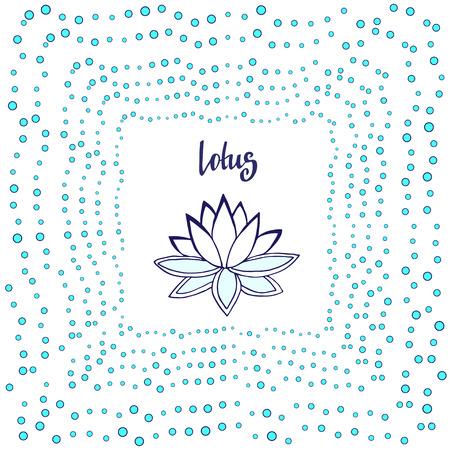 zen vector: Lotus flower. Cute zen vector illustration