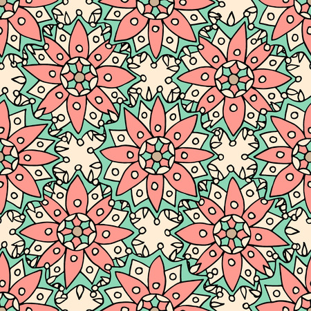 brocade: Ethnic flowers seamless pattern. Can be used for fabric, textile, wrapping