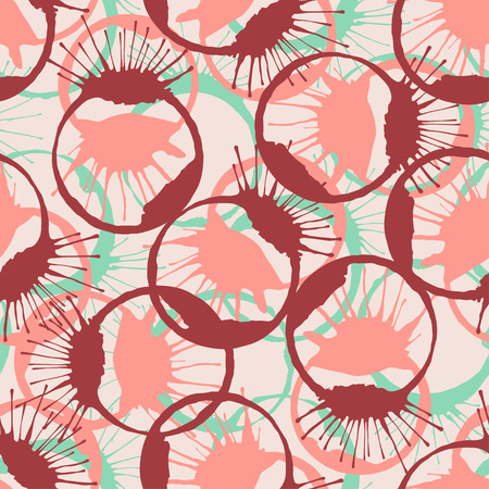 inked: Colorful inked splashes seamless texture. Vector fashion pattern