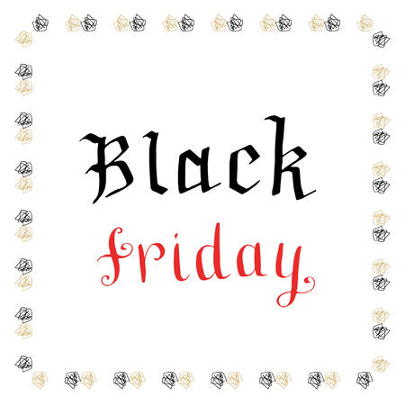 writting: Hand writting Black Friday icon. Vector banner