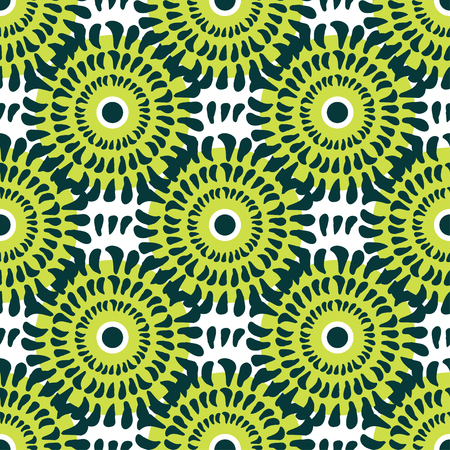 linens: Green chrysanthemum seamless pattern. Texture be used for printing on fabric or paper and background on linens
