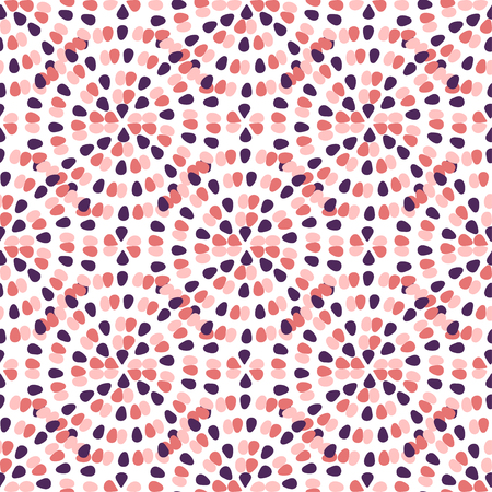Creative seamless pattern with freehand creative ornament. Pink dots abstract background. textile template or wrapping paper.
