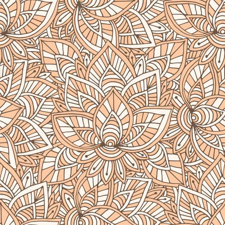 装飾的なインド パターン。テキスタイル デザインのベクターのシームレス テクスチャ。