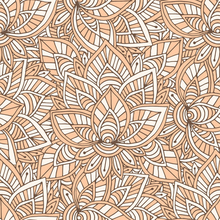 Ornamental indian pattern. Vector seamless texture for textile design.