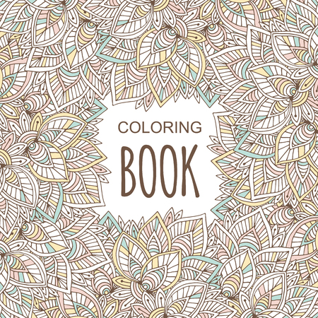 Coloring book cover.