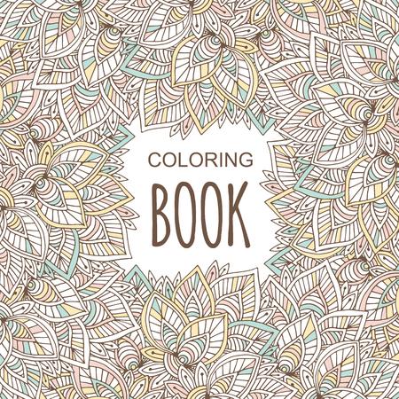 Cubierta De Libro Para Colorear Para Adultos. Otoño Colorido Adorno ...
