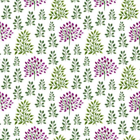 水彩のシームレス花柄。ハンド ペイント水彩自然背景。折り返し、テキスタイル、壁紙、パッケージのデザインに使用できます。