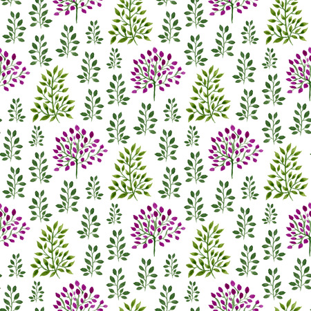 Watercolor seamless floral pattern. Hand paint watercolor nature background. Can be used for wrapping, textile, wallpaper and package design