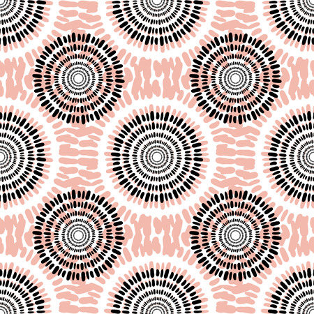 Textile vector seamless pattern. Casual fashion background texture. Peach color. Autumn abstract fabric design