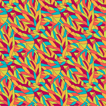 Vector fashion bright pattern. Wavy seamless background. For textile fabric or packaging design Illustration
