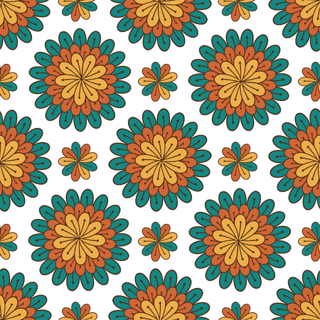 packaging design: Floral seamless pattern. Modern background with flowers. Textile print or packaging design. Illustration