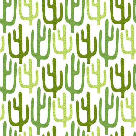 unusual: Mexican cactus seamless pattern. Cartoon vector background for textile print design