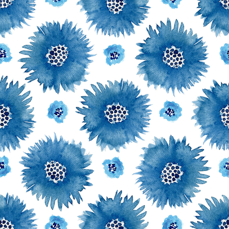 paint can: Watercolor cornflowers seamless pattern . Hand paint background. Can be used for wrapping,stationery and package design