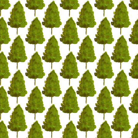 patten: New year trees seamless patten. Watercolor backdrop for Christmas design