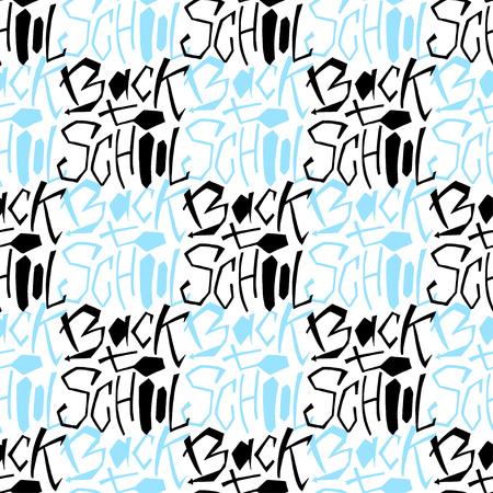 school class: Back to school pattern.