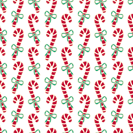 christmas seamless pattern of candy canes bright new year wrapping