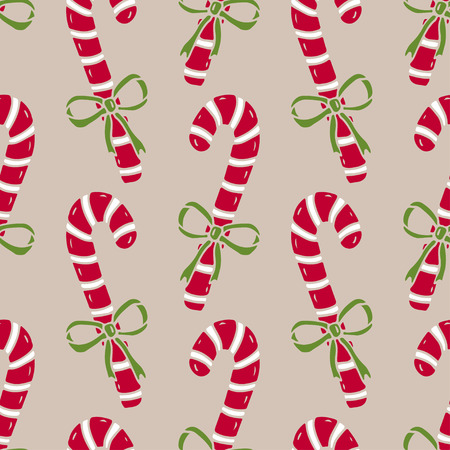 christmas seamless pattern of candy canes bright wrapping paper