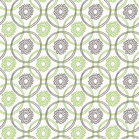 Seamless kiwi fruit line pattern. Vector illustration for menu, wallpapers and scrapbooks.