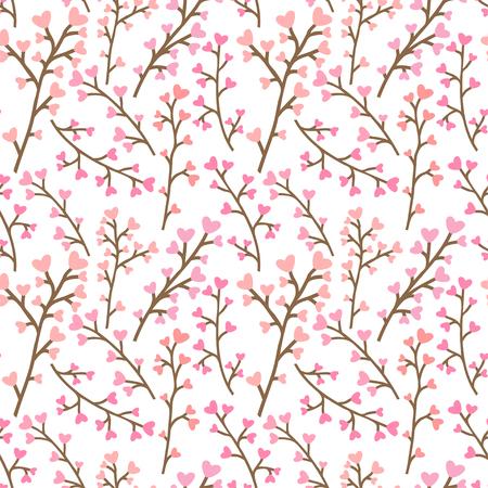 Floral pink pattern. Illustration