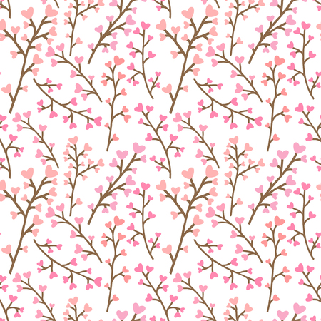 Floral pink pattern. Vettoriali