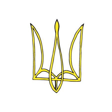 Ukrainian emblem. Trident icon Vector Иллюстрация