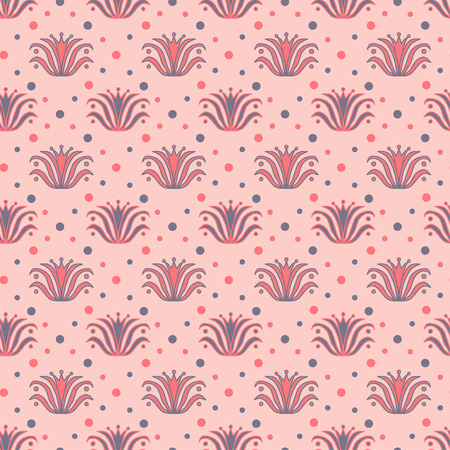 Vintage seamless background. Pattern for textile print design. Wallpaper seamless pattern with vintage flowers