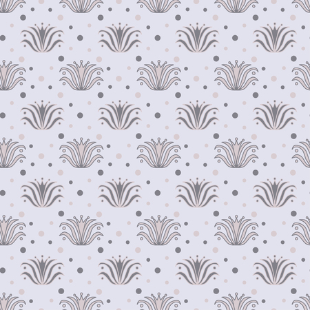 Vintage seamless background. Floral pattern for textile print design. Wallpaper seamless pattern with vintage flowers