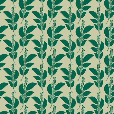 Tropical seamless background. Pattern print for textile design. Floral seamless pattern in green colors Ilustração