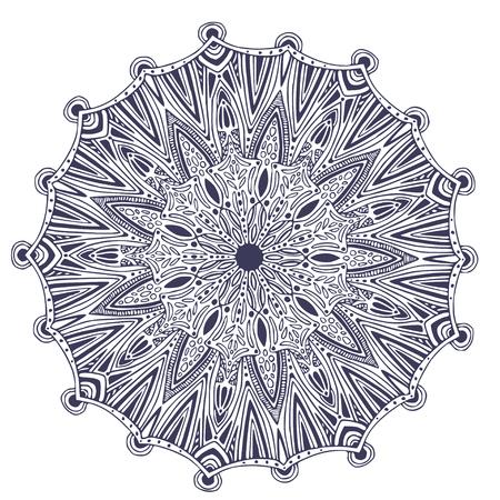 Ornamental vector Mandala. Abstract ornament pattern. Interior mandala print Ilustração
