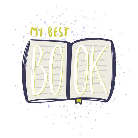 My best book icon. Typographic vector design. Books blog icon Ilustração