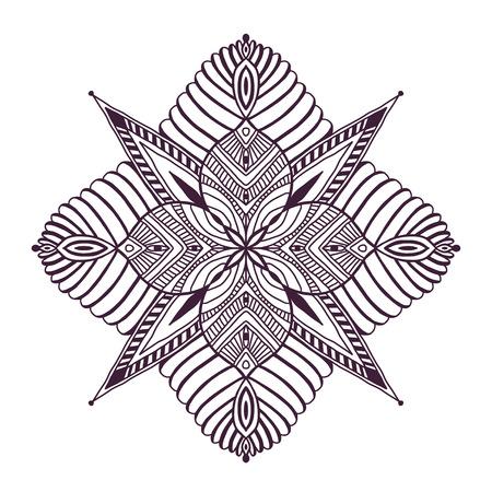 Ornamental Floral Mandala. Napkin ornament pattern. Tattoo mandala print