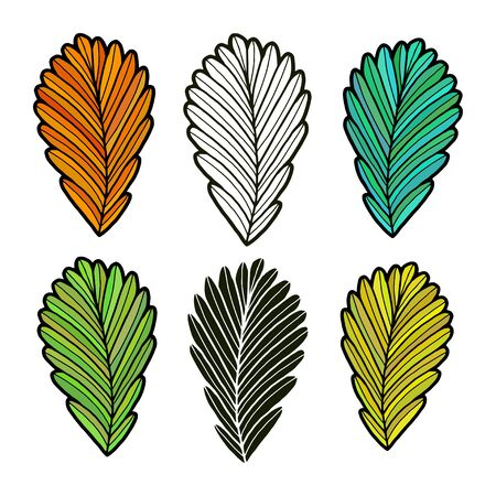Leaves vector illustration. Autumn leaves collection. Isolated fall set.