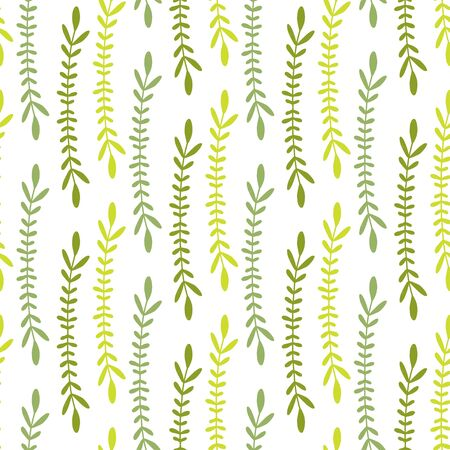 Nature seamless pattern. Green leaves pattern. Minimal nature print for wrapping, textile, wallpaper design.