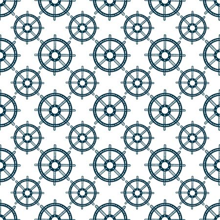Wheels seamless pattern. Repeat vector background. Steering wheels pattern for textile design. Simple web backdrop