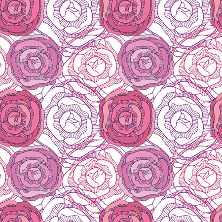 Roses seamless pattern. Repeat floral background. Floral pattern for textile design. Colorful rose flowers print