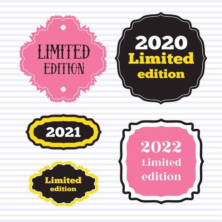 Printing stiker labels. Limited edition labels design