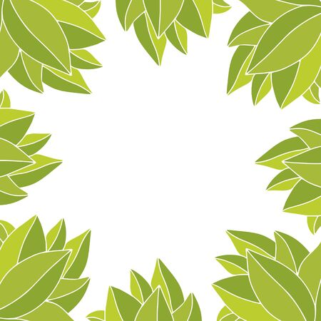 Frame with tropical leaves. Floral background design Ilustrace