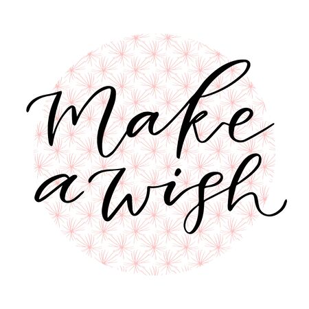 Make a wish. Handwritten greeting card. Printable Calligraphic Christmas poster