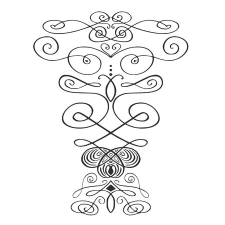 Collection of borders and certificate swirl decorations. Retro style. Curves ornamental decor, vignettes.