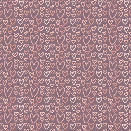 Soft hearts pattern. Background for fabric design. Pattern textile print with little pink hearts Illusztráció