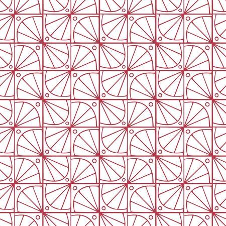 Geometric seamless pattern. Modern art deco tile design Illusztráció