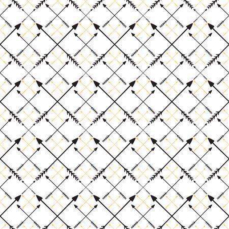 Arrows pattern. Modern hipster print. Minimalistic arrows ornament