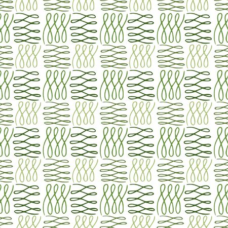 Modern seamless pattern in green colors. Linen repeat design