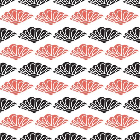 Modern seamless pattern in red and black colors 向量圖像