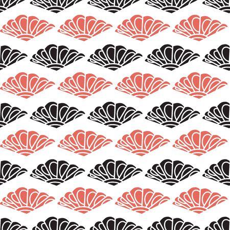 Modern seamless pattern in red and black colors Illusztráció