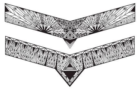 Bracelets tattoo designs. Geometrical ornate borders