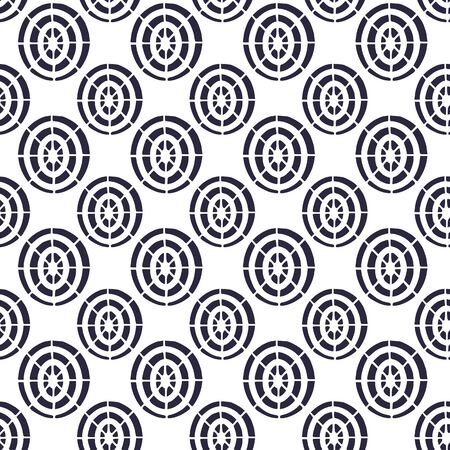 Seamless pattern. Cobweb geometric ornament. Background for fabric or web wallpaper. Repeating pattern in decorative style with target ornaments. Textile design for tiles and linen Illustration