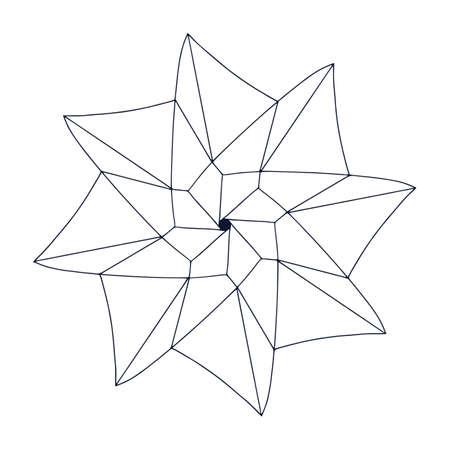 Pinwheel linear design. Vector logo or icon