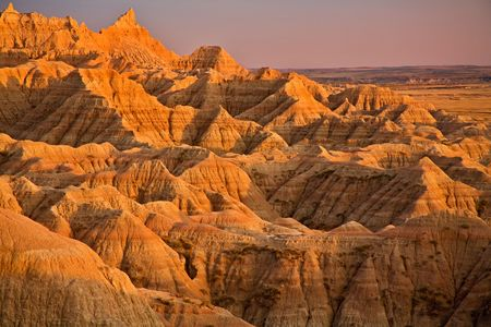 badlands: Badlands and golden light