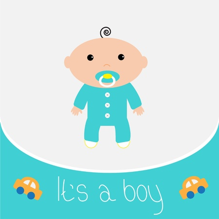 Baby shower card  It s a boy Vector